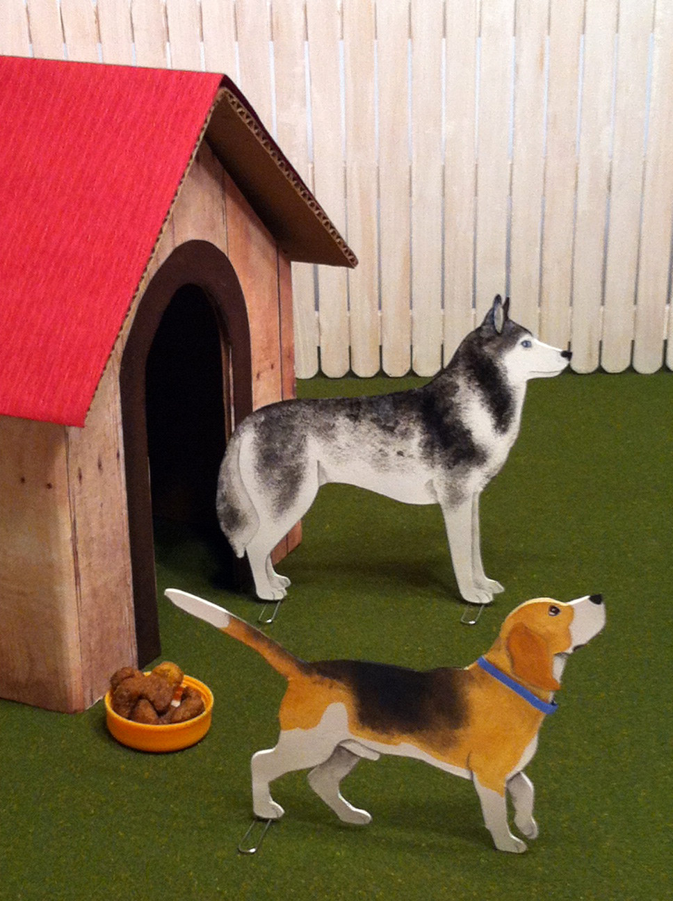 Husky Dog and Beagle Pop Out + Paint Dogs and Cats